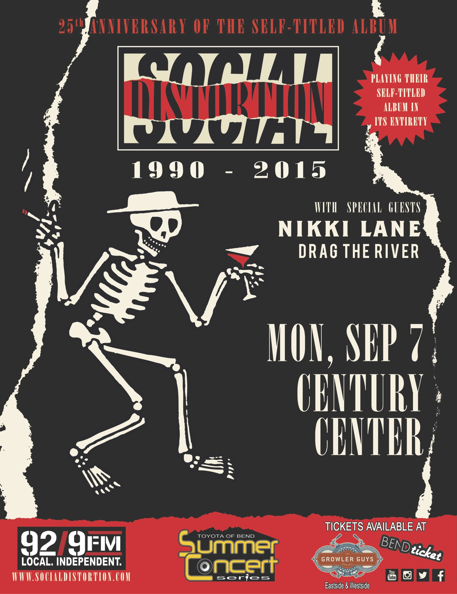Social Distortion Tickets Century Center Bend OR