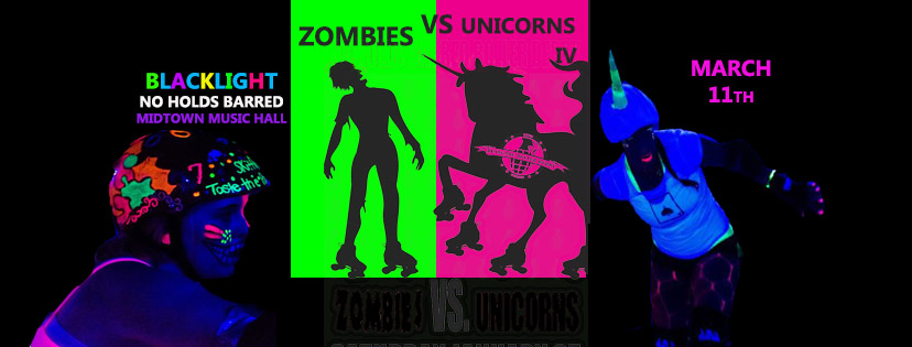 Renegade Roller Derby Zombies Vs Unicorns IV