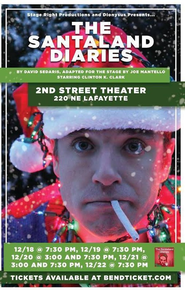 The Santaland Diaries Showings December 18th 22nd Tickets 2nd