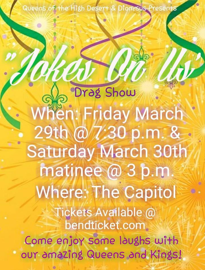 Joke's on Us Tickets | The Capitol | Bend, OR | Sat, Mar 30 at 3pm | Bend  Ticket